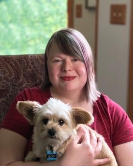 FINAL Mika Covington with dog, Teddy (1)